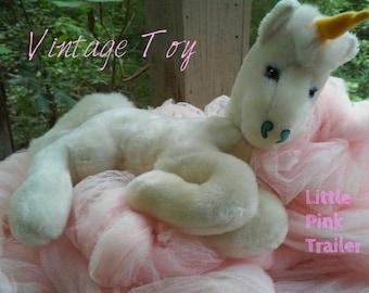 Adorable Vintage Plush Unicorn Mighty Star 1970s