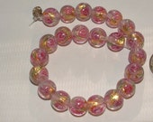 22 gorgeous rose-glasss LAMPWORK BEADS -good deal so pretty  make earrings-crafts re-design-supplies