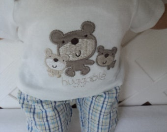 Bitty Baby Boy 2 pc. cute Teddy Bear outfit,  pants set, doll clothes