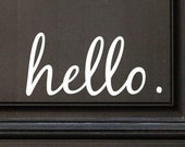 Hello Vinyl Door Decal - Hello Front Door Decals, Hello Home Office Decor, Custom Vinyl Decal, Hello Vinyl Hello Decal, Front Door Greet H31