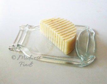 ON SALE Quart Mason Jar Spoon Rest, soap dish, clear quart size, made from an actual Ball jar, gift box included