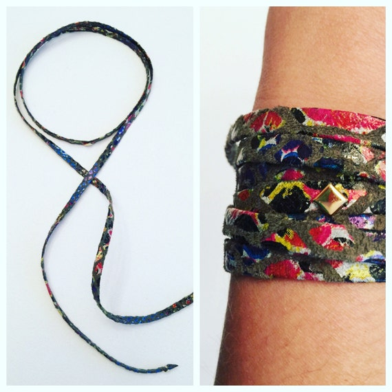 Painted Suede Choker/Bracelet