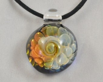 Boro Pendant - Lampwork Glass Jewelry - Hand Blown Glass Necklace