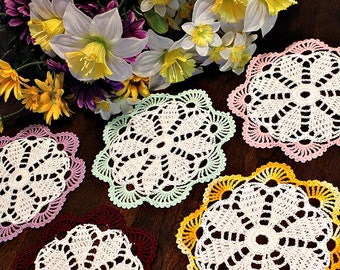 Spring colors crochet  coasters
