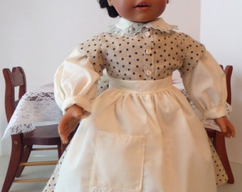 18 Inch Doll Clothes / Doll Dress,  Apron And Pantaloons / Doll Outfit / Doll Clothes / Doll Clothing / Doll Accessories - 1013