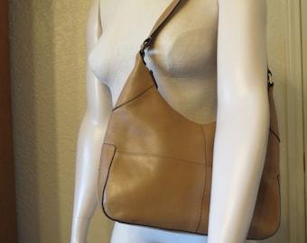 vintage Etienne Aigner Butterscotch Leather shoulder Strap Bag