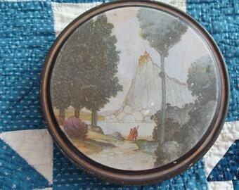 For the Shabby Princess ~ Vintage Fairy Tale Tin ~ Sewing ~ Keepsake ~ Trinket ~ Jewelry Box