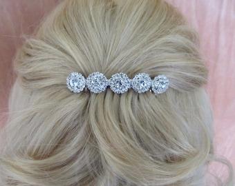 Silver Rhinestone Bridal Hair Comb,Rhinestone Wedding Hair Comb,Bridal Hair Accessories,Wedding Accessories,Decorative Hair Comb,#C39
