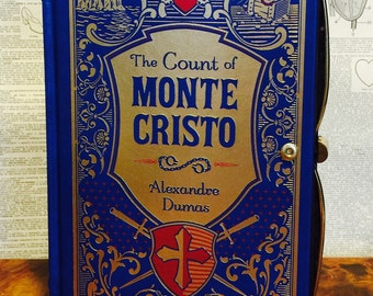 Book Clutch The Count of Monte Cristo by Alexandre Dumas Leather Bound Book Purse Ready to Ship