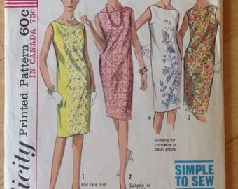 Simplicity 5980 Easy Shift Dress in 4 versions size 10