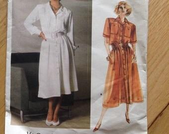 Uncut Vogue 1683 Paris Original Yves Saint Laurent Dress • size 12