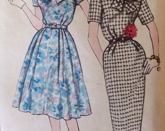 Simplicity 3446 Dress with slim or full skirt - size 18