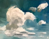 For Heather ** Cloud Studies I,II &II • original oil paintings 5x7""