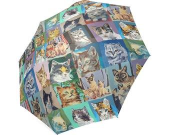 Paint By Number Cats Umbrella - PBN Cats foldable umbrella