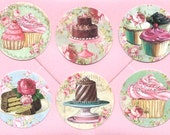 Stickers, French Bakery, Cupcake Stickers, Birthday, Bakery Stickers