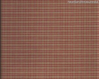 Dunroven House H 302 Homespun Red U0026 Wheat Plaid Fabric 1/2 Yard Cut Off The  Bolt