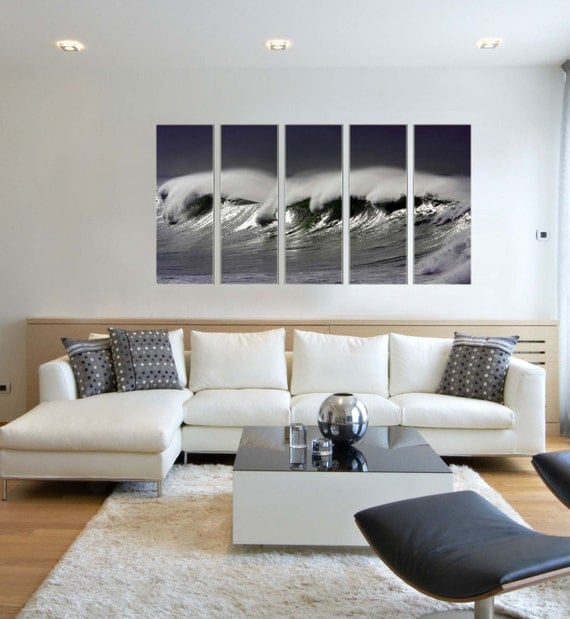 Canvas Prints - Wave Photo Canvas Print - Wave Canvas Art - Water Canvas Art - Framed Ready to Hang - Ocean Photo Canvas Prints