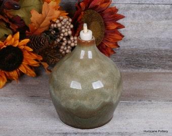 Oil Burner. Oil Diffuser. Ceramic Vase. Wheel Thrown Stoneware Pottery.