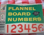 Milton Bradley Flannel Board Numbers Teaching Aid or Supply
