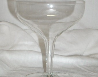 Vintage Hollow Stem Champagne Glass 4 inch Bowl