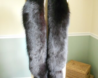 Reserved for Luxury Vintage Girl Do Not BuyBlack Fox Fur Boa / Large Collar / Boa Wrap / Stole Shawl