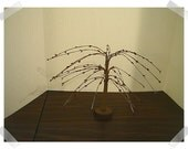 """Burgundy Willow Tree/ 7"""" tall/ Home Decor/Supplies*"""