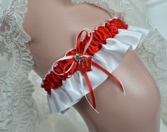 University Of Wisconsin Badgers Theme- Bridal Keepsake Garter -Wedding Keepsake Garter -Bridal Garter- Sport Garter