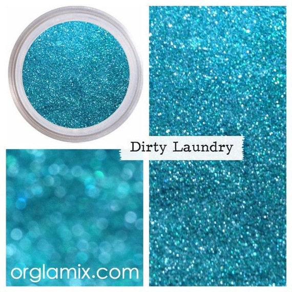 Aqua Glitter Makeup DIRTY LAUNDRY Glitter Eye Shadow