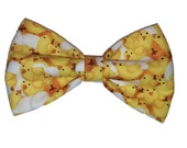 Chicks Bow Tie - Easter Cat Bow - Dog Pet Bowtie - Hair Clip