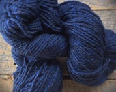Peace Fleece, navy blue, worsted weight yarn for knitting, Patience Blue