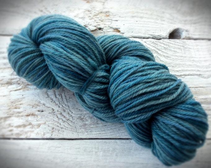 Blue hand dyed yarn