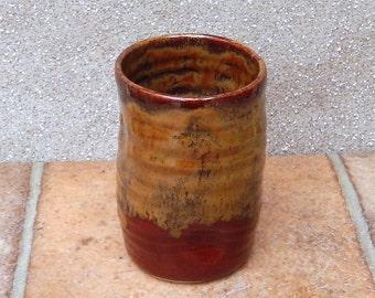 Beer water juice beakers tumbler cup hand thrown stoneware pottery