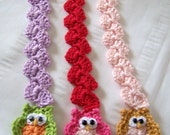 Crochet bookmark with owl for book lovers 10 inch long pick one