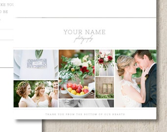 Photographer Thank You Card Templates - Photo Marketing - Wedding Photographer Templates - Photoshop Templates - m0138