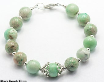 Amazonite Dreams Gemstone Sterling Silver Bracelet