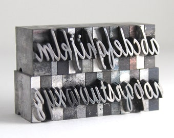 THE ALPHABET - 48pt Metal Letterpress - Script