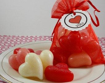 Soap -Little Hearts of Love - Valentine's Day Soap - Wedding Favors - Guest Soaps - Tear Drop Shaped -  Glycerin Soap - SoapGarden
