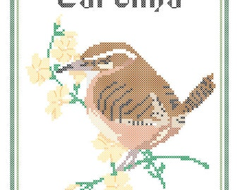 South Carolina State Bird, Flower and Motto Cross Stitch Pattern PDF