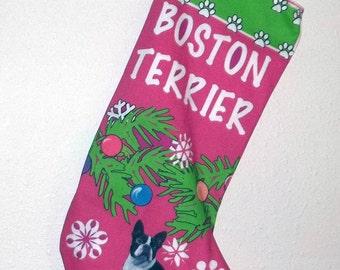 Christmas Stocking for a Boston Terrier