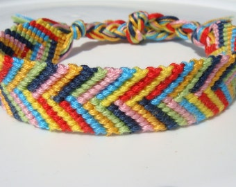 Colorful Chevron Friendship Bracelet