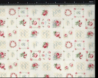 Yuwa Patches Floral Pink Roses Cotton Fabric B829117F