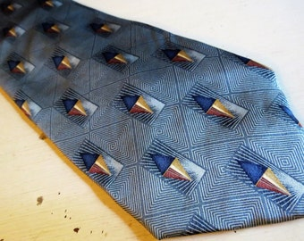 Vintage BILL BLASS Black Label Silk Necktie Made in USA