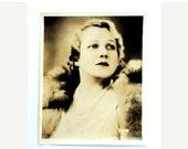 VALENTINES SALE Vintage Photograph of Opera Star, Elisabeth Rethberg, Germany, cr.1920s,tinted, Woman in Fur, Metropolitan      I Take Credi