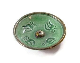 INCENSE BURNER Aum Handmade RAKU Pottery 4 to choose from