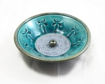 Incense Burner FAIRY Celtic Spiral Handmade Pottery
