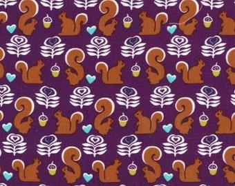 Michael Miller - Fox Woods Collection - Squirrels in Purple