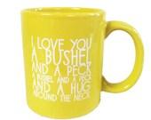 I love you a bushel and a peck Coffee Mug-YELLOW