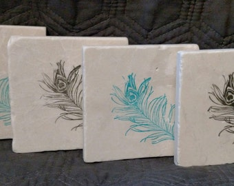 Whispy Feather Coasters