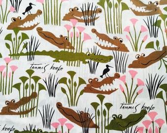 Vintage Tammis Keefe alligator fabric - 1/4 yard