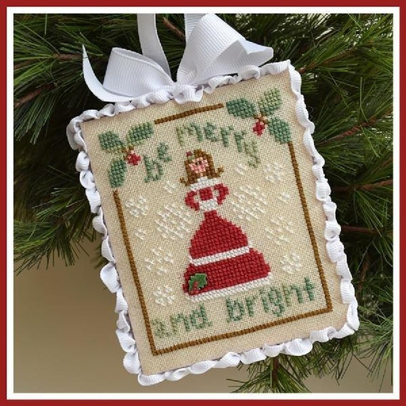 be merry cross stitch pattern by country cottage needleworks